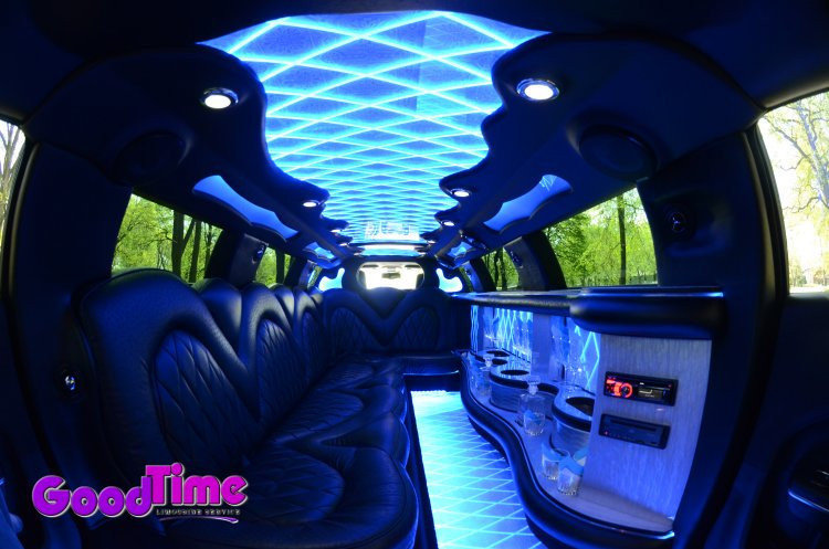 10 Passenger Chrysler 300 Stretch Limousine Interior LIMO RENTAL FLEET
