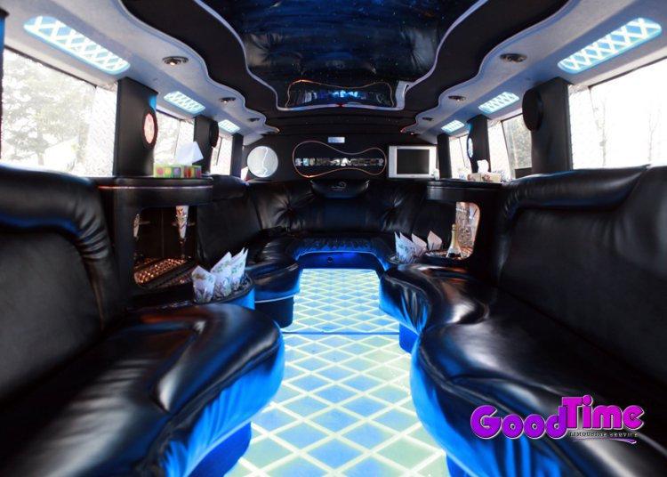 21 Passenger H2 Hummer Limousine Interior LIMO RENTAL FLEET