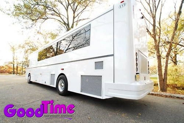 45 Passenger Limo Party Bus With Bar and Rest Room LIMO RENTAL FLEET