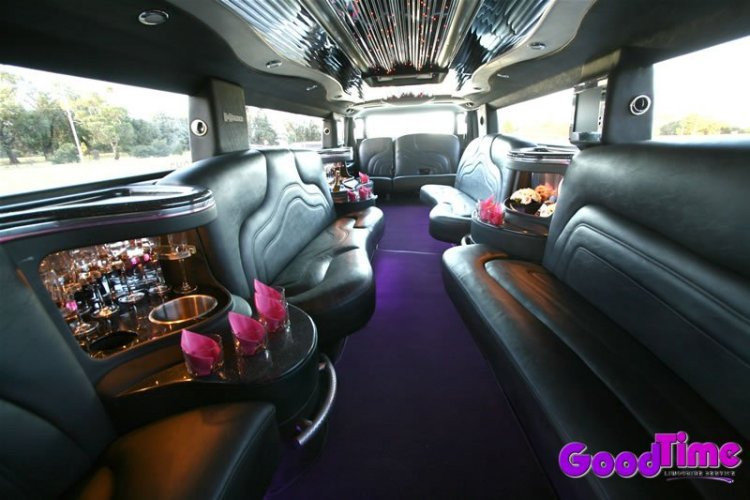Cadillac Escalade SUV Stretch Limo Alternate Interior LIMO RENTAL FLEET
