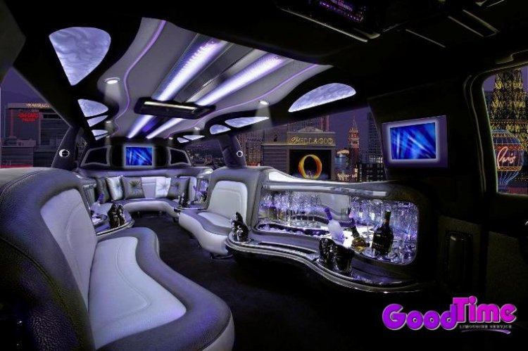 Cadillac Escalade SUV Stretch Limo Interior LIMO RENTAL FLEET