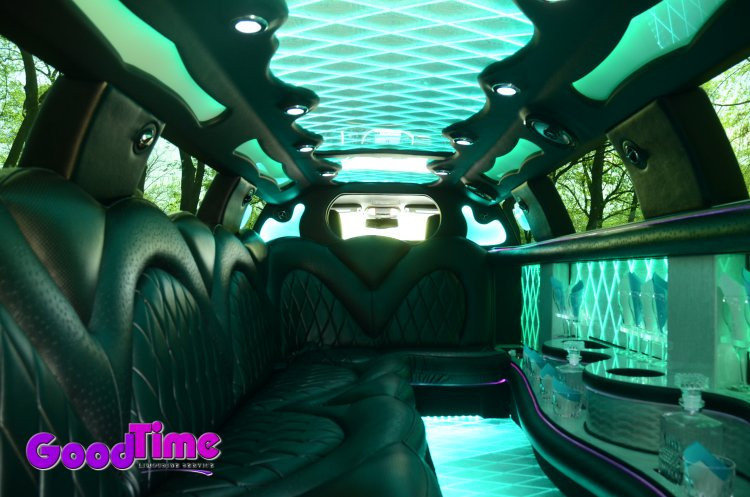 Chrysler 300 Stretch Limo Interior Color Changer Controls 2 LIMO RENTAL FLEET