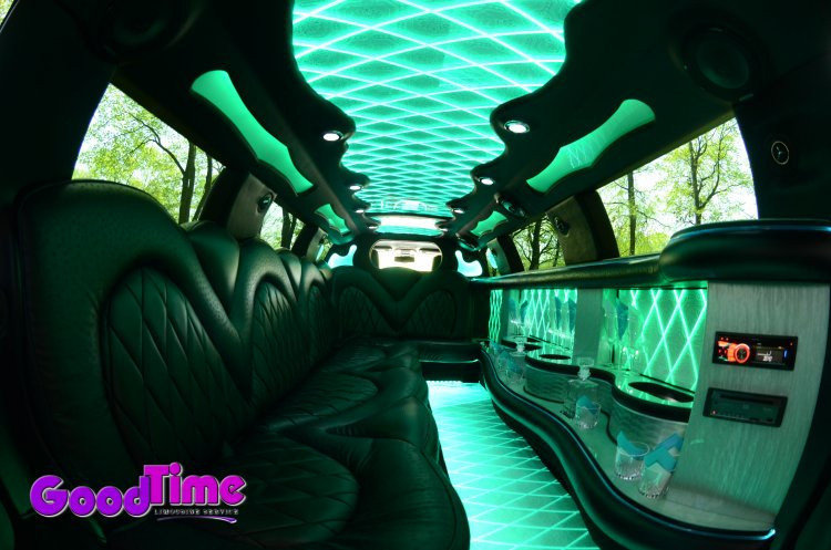 Chrysler 300 Stretch Limo Interior Color Changer Controls 4 LIMO RENTAL FLEET