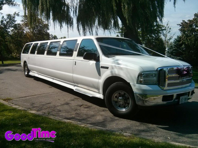 Ford Excursion SUV Stretch Limo Exterior LIMO RENTAL FLEET