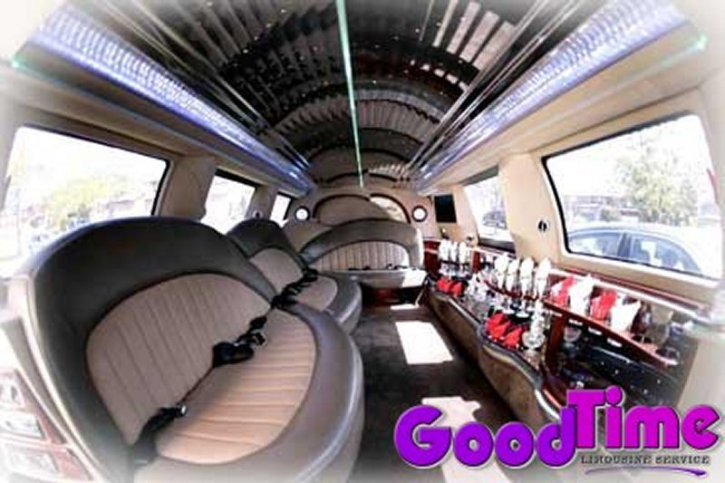 Ford Excursion SUV Stretch Limo Interior TORONTO LIMO RENTAL FLEET