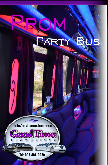 Ontario Canada Prom Party Bus Rental Service CLARINGTON ONTARIO PROM LIMOUSINES