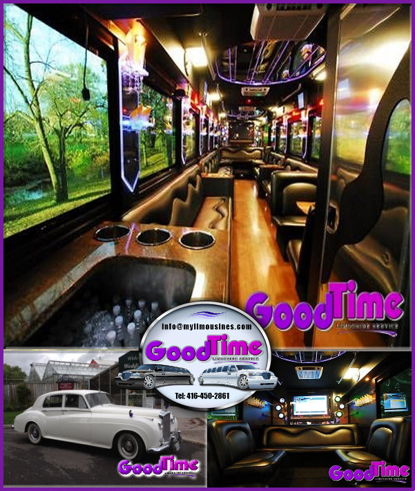 Party Bus Limousines Rental Service BRAMPTON ONTARIO PARTY BUSES