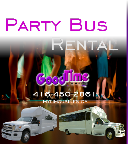 Party Bus Rental Services DRYDEN ON PARTY BUSES
