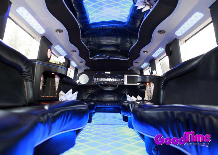 SUV Hummer Limo Interior With Bar and More TORONTO LIMO RENTAL FLEET