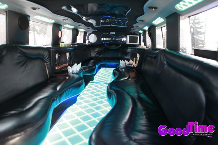 SUV Hummer Limo Interior With Rear Controls LIMO RENTAL FLEET