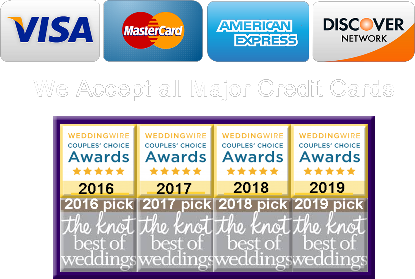 We Accept All Credit Cards WAWA WEDDING LIMO